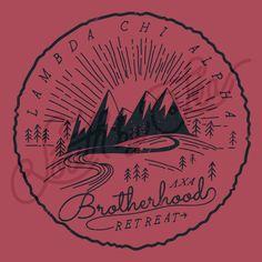 Fraternity Social Lambda Chi Alpha Brotherhood Retreat Mountain South By Sea Kappa Alpha Order, Lambda Chi Alpha, Kappa Delta, Fraternity Shirts, Sorority And Fraternity, Phi Mu Crafts, Bid Day Shirts, Greek Design, Greek Shirts