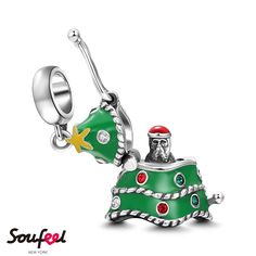 Mysterious Father Christmas Charm 925 Sterling Silver