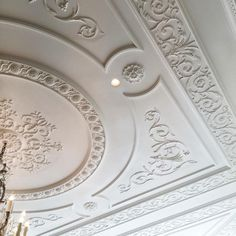 Ceiling moulding details in project pearl Drawing Room Ceiling Design, Plaster Ceiling Design, Gypsum Ceiling Design, House Ceiling Design, Bedroom False Ceiling Design, Luxury Bedroom Design, Ceiling Decor, Luxury Decor, Plafond Staff