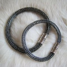 viking knit jewelry | Hand Woven Sterling Viking Knit Bracelet with Magnetic Clasp - B65 ...