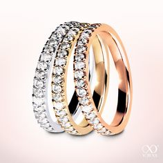 """Whereever love falls over. """"Eterna"""" diamond ring in whitegold, gold and rosegold #yorxs #diamantring #metalle"""