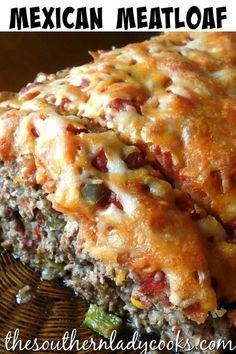 Mexican meatloaf is a comfort food recipe your family and guests will enjoy. If you like Mexican food, you will like this versatile recipe you can adjust to your liking by making it hot or mild and using spices of your choice. Meat Recipes, Mexican Food Recipes, Chicken Recipes, Cooking Recipes, Mexican Cooking, Cooking Ribs, Cooking Beets, Cooking Cake, Cooking Steak