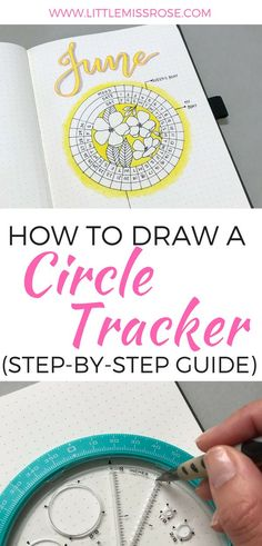 Learn how to create this simple circle mood tracker and other circular spreads using this amazing tool for creating circles in your bullet journal #bulletjournal #bujo #circlespread #circletracker Bullet Journal Tracker, Bullet Journal Junkies, Bullet Journal Spread, Bullet Journal Layout, Bullet Journal Inspiration, Bullet Journals, Bullet Journal Tools, Bullet Journal How To Start A Simple, Planner Stickers