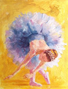 Original Oil Painting of Ballerina  11x14 by paintedmoments. via Etsy.