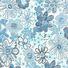 Robert Kaufman House Designer - London Calling Lawn 4 - Pretty Pointillism in Blue - Fabric Patterns, Sewing Patterns, Pointillism, Robert Kaufman, Girl Inspiration, London Calling, Modern Fabric, Fabric Design, Design Color
