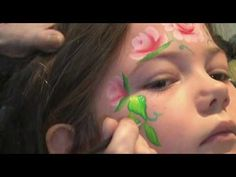 Rose Fairy - Face Painting - Split Rainbow Cakes - One stroke - STudio Joli