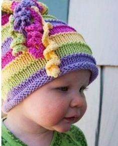 Baby Hat Knitting Pattern, Baby Hats Knitting, Knitting For Kids, Knitting Patterns Free, Free Knitting, Crochet Patterns, Children's Knitted Hats, Free Pattern, Beanie Pattern