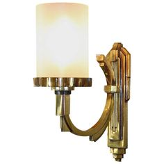 Petitot One Gilt Bronze,1930s Art Deco Sconce | From a unique collection of antique and modern wall lights and sconces at http://www.1stdibs.com/furniture/lighting/sconces-wall-lights/