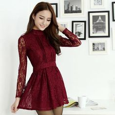 Buy 'Ando Store – Mock Neck A-Line Lace Dress' with Free International Shipping at YesStyle.com. Browse and shop for thousands of Asian fashion items from China and more!