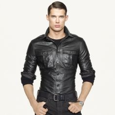 RL Black Label leather shirt