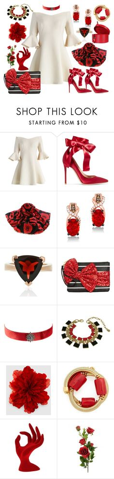 """""""Stepping Out Into The Sunshine"""" by yournightnurse ❤ liked on Polyvore featuring Chicwish, Gianvito Rossi, LeVian, Betsey Johnson, Artisan, Gucci, Oscar de la Renta and Louis Vuitton"""