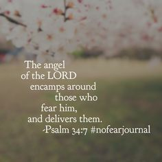 You have the protection of angels when your heart is reverent toward your God. That is how much he loves you! He answers. He delivers. He hears. He saves. There is no need to fear; your God is near!! #nofear #nofearjournal #biblereading #biblereadingplan Day 6