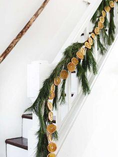DIY Dried Orange Garland - The Merrythought Bohemian Christmas, Natural Christmas, Noel Christmas, Simple Christmas, Winter Christmas, Christmas Wreaths, Christmas Crafts, Christmas Decorations, Holiday Decorating