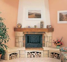 угловой камин - Поиск в Google Cottage Fireplace, Fireplace Hearth, Home Fireplace, Living Room With Fireplace, Fireplace Design, Corner Wood Stove, Front Door Design, New Home Designs, New Homes