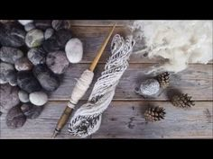 Design yarn. How to spin yarn on a spinning wheel - YouTube