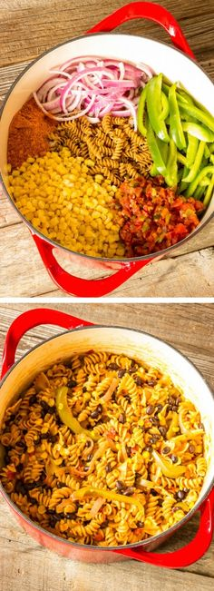 One pot wonder southwest pasta - I chopped up the onion and green pepper and used two 10oz cans of rotel.