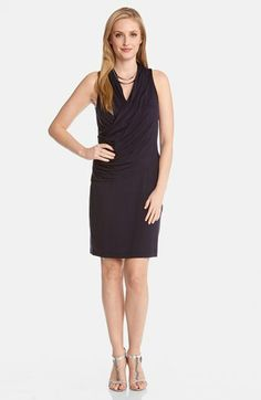 Karen Kane Sleeveless Faux Wrap Front Dress available at #Nordstrom