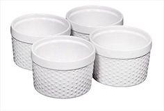 I have 5 (I broke) would always want more!   Home Essentials 66476 Mini Stoneware Hobnail White Ramekins 6 oz, Set of 4