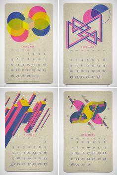 24 Beautiful Wall Calendars for 2014 via Brit + Co.