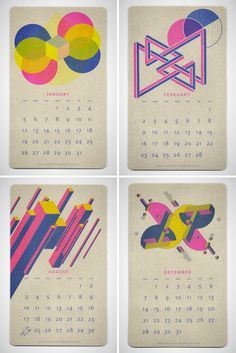 24 Beautiful Wall Calendars for 2014 via Brit + Co.