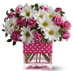 pink polka dot party centerpieces | Balloon Centerpieces| Lewisville | Plano | Dallas | Carrollton ...
