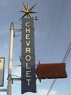 Vintage Chevrolet Dealership Sign - Old Car Dealership Sign #cardealer #vintage #retro