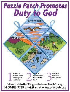 Duty to God Patch Program Girl Scout Patches, Young Men, Scouting, Faith In God, Girl Scouts, Lds, Badges, Spiritual, Youth