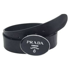 Prada Embossed Leather With Oval Press Buckle Men'S Belt PB4439-598