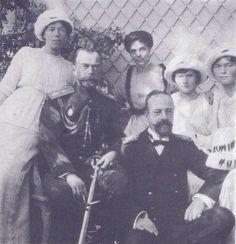 "Grand Duchess Olga Alexandrovna, Tsar Nicholas II, Grand Duke Alexander ""Sandro"", Grand Duchess Xenia Alexnadrovna, Grand DuchessesTatiana Nikolaievna and Olga Nikolaievna"