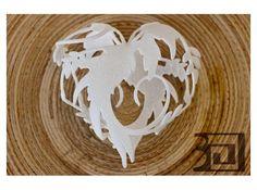 Blossom heart by vaclav.mazany on Shapeways