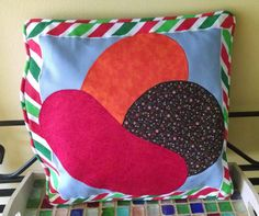 Candy Crush Canvas Pillow or Messenger Bag by Crossstitchandsew