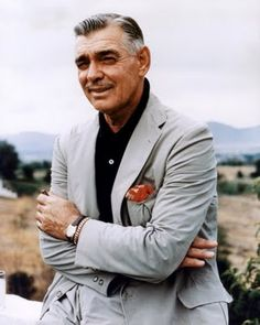 Clark Gable ( This pic reminds me of George Clooney...except Clooney's got NOTHIN on my man Clark!)