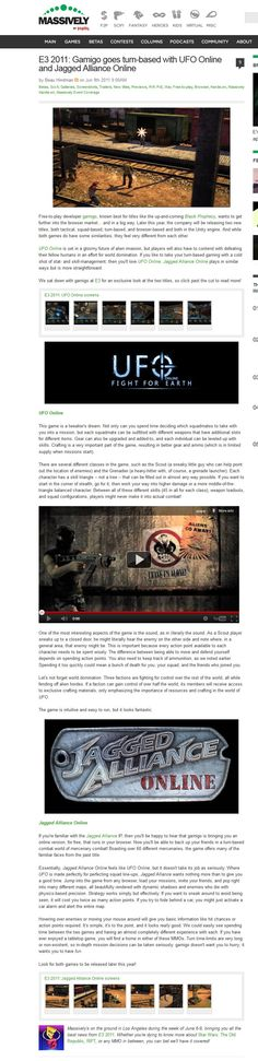 Jagged Alliance Online/UFO Online: Fight For Earth - Massively Preview - E3 2011
