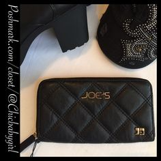 "#JUST-IN ✨ [JOE'S JEANS]  ZIP AROUND WALLET Zip Around Wallet With Tags $68 Retail + Tax   Perfect Financial organizer  *Quilted faux leather *Length 7.5"" *Depth  1.25"" *Height 3.75"" *7 CC slips *Zip coin pocket *Zip around closure *Joe's logo    2+BUNDLE = SAVE  ‼️NO TRADES--NO HOLDS--NO MODELING  Designer/Brand Name Items Authentic   ✈️Ship Same Day--Next Day (Purchase Before Noon for Same Day)  USE BLUE OFFER BUTTON TO NEGOTIATE   ✔️Ask Questions Not Answered In Description--Want You To…"
