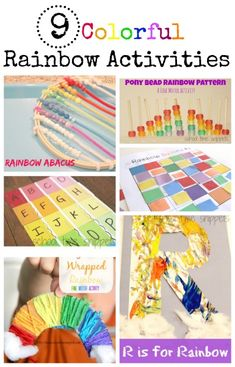School Time Snippets: 9 Super Colorful Rainbow Activities Your Kids Will Love. Pinned by SOS Inc. Resources. Follow all our boards at pinterest.com/sostherapy/ for therapy resources.