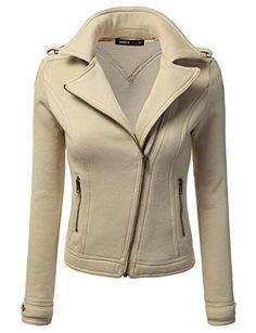 Women Long Sleeve Slim Fit Cotton Zip-up Casual Rider Jacket - http://darrenblogs.com/2016/05/women-long-sleeve-slim-fit-cotton-zip-up-casual-rider-jacket/