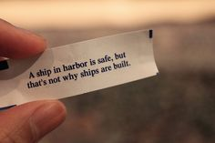 Sigh. But it's scary out there. Maybe the ship = ME analogy isn't right for me. Maybe I'm more of a dinghy...