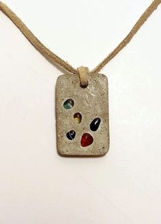 Concrete Necklace MultiColor Concrete by DeerwoodCreekGifts, $30.00