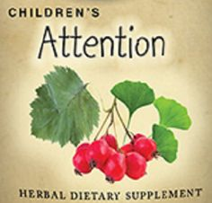 Childrens Attention Formula Liquid Herbal Tincture to Promote Focus Natural Homeopathic Remedy FDA Registered