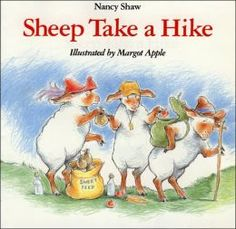 Sheep Take a Hike by Nancy Shaw, great for a Walking theme, love the humour in this book. Image found on Barnes & Noble website
