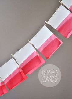 Hand Dipped Note Cards from This Heart of Mine. Love!