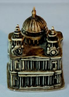 Antique c1930's Capital Building w Dome Tape Measure Celluloid Figural | eBay