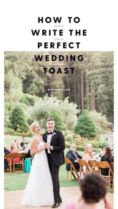 We asked the experts how to write a wedding toast that's meaningful and memorable. Click to find out just what to write for your big day.