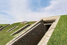 Pachacamac House. Part post-apocalyptic bunker, part Inca temple. This dramatic home lies partially buried beneath a Peruvian hilltop.