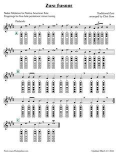Zuni Sunrise - five-hole Pentatonic Minor