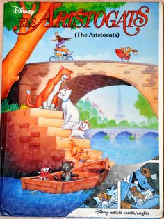 Spain - Aristogats (bilingual Catalan/English). Scanned image of a book cover (©Disney).