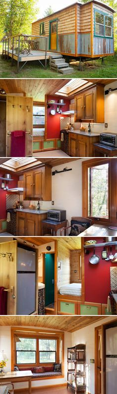 Located just outside Sandpoint, Idaho is the Garden Caravan Tiny House, a gypsy-style caravan available for nightly rental through Airbnb.