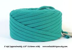 Recycled T Shirt Yarn  Teal Blue  26 Yards from MikesTShirtYarn