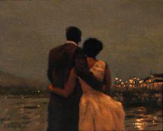 """Just before midnight"" Peinture de l'artiste irlandaise Anne Magill -2011-"