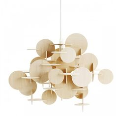 bau lamp interlocking wood pendant